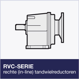 RCV-serie in-line tandwielreductoren